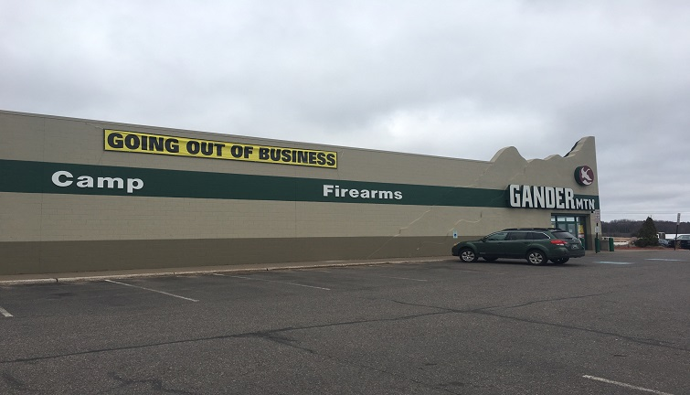 Gander Mountain liquidating assets at Albemarle store