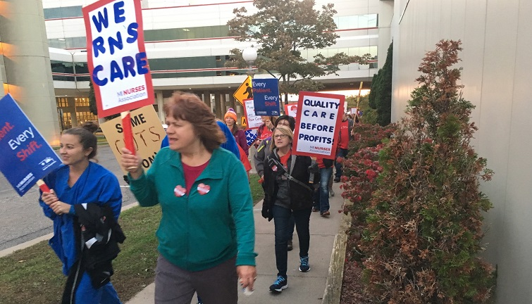 Strike underway at UP Health System - Marquette