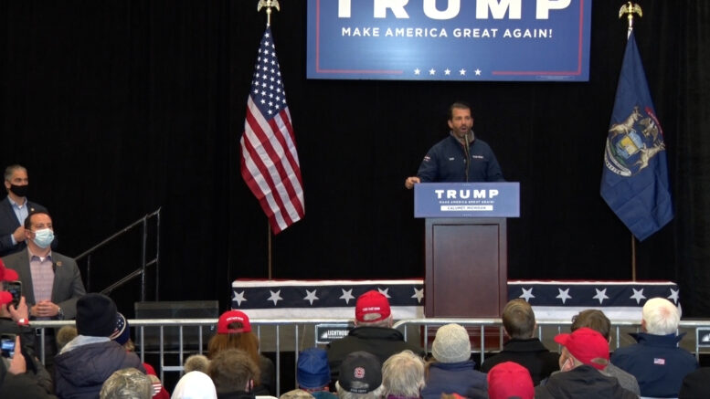 Donald Trump Jr. to stump for father in MI on Monday